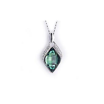 Lampa wisząca diamond niebieski kryształ Swarovski Elements i Rod płyta