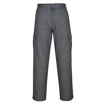 Portwest Combat Trousers - Grey Mens Work Pants Multiple Utility Pockets