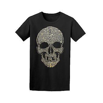 Fingerabdruck-Skull T-Shirt Herren-Bild von Shutterstock