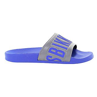 Bikkembergs men BKE108762 Blau rubber sandals