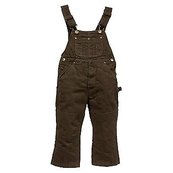 Infant Insulated Dungarees - Dark Brown Kids Protective Overalls Snow Rain Wear