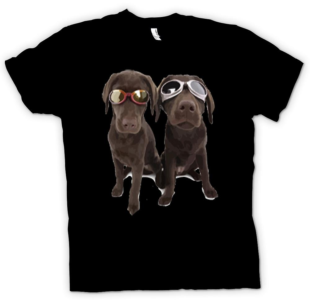 Kids T-shirt - Cool Black Labradors With Sunglasses