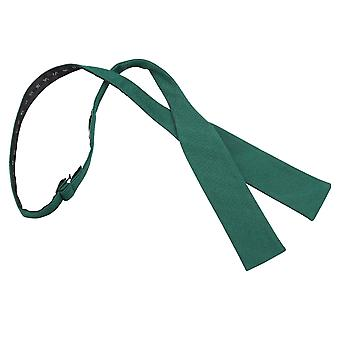 Hunter Green Ottoman Wool Batwing Self Tie Bow Tie