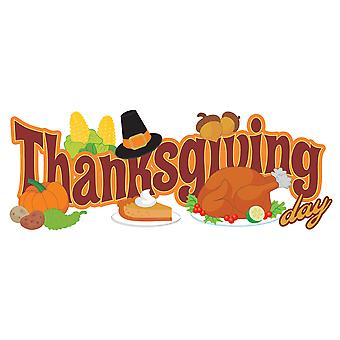 Jolee's Boutique Title Waves Dimensional Stickers-Thanksgiving Day