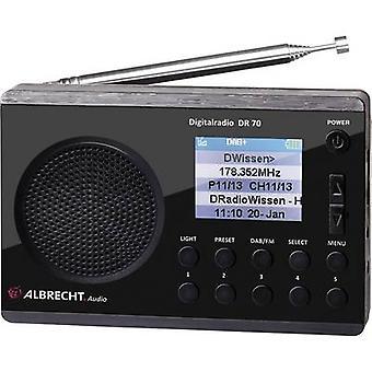 Albrecht DR 70 DAB + tragbares Radio DAB + FM Taschenlampe schwarz