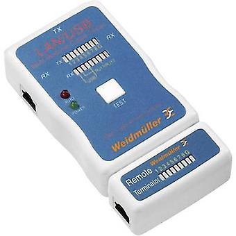 Weidmüller LAN USB TESTERNetwork Kabeltestare, Kabeltestare lämplig för LAN, USB