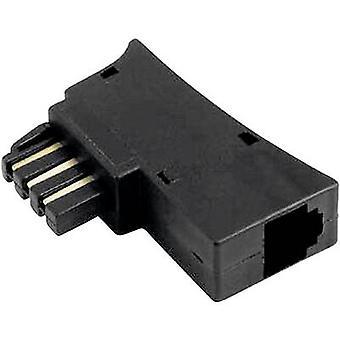 Hama Phone Adapter [1x TAE-N/F plug - 1x RJ11 6p6c socket] 0 m Black