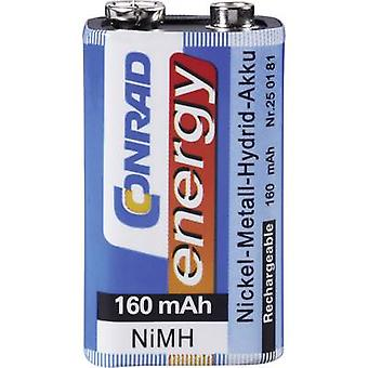 9 V / PP3 battery (rechargeable) NiMH Conrad energy 6LR61