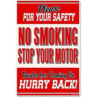 Не курить остановить ваш двигатель 18 * 12