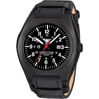 KHS acero interceptor negro reloj de KHS. INCBS. R