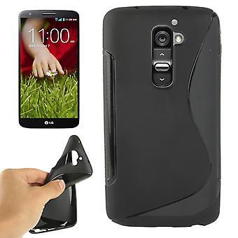 Handyhülle Schutz TPU für Handy LG Optimus G2 schwarz