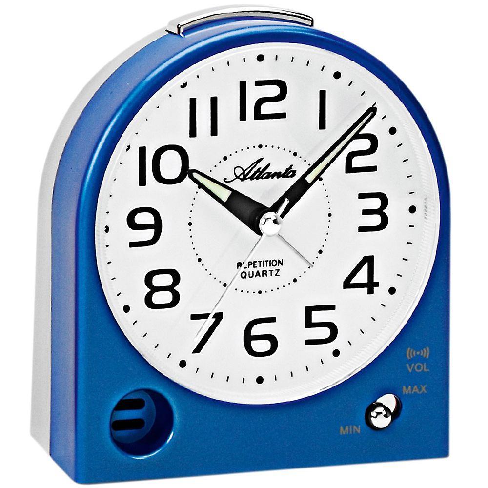 Snooze Wecker Quarz Atlanta Ticken Licht Analog Blau Mit Grau 1928 Ohne Leise 5 sQrxhCdt