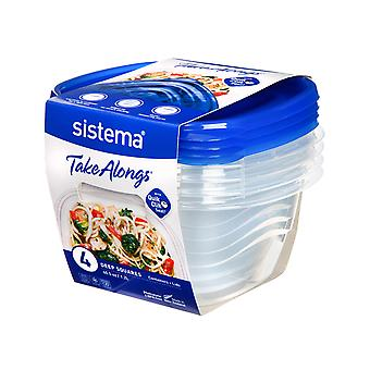 Sistema Takealongs Medium Square Pack of 4