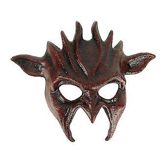 Maschera di Halloween adulto malvagio Goblin rosso sangue