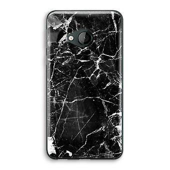 HTC U Play Transparent Case (Soft) - Black Marble 2
