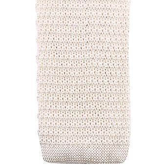 Knightsbridge Neckwear Knitted Tie - Cream