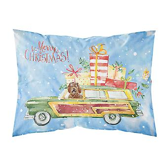 Merry Christmas Labradoodle Fabric Standard Pillowcase