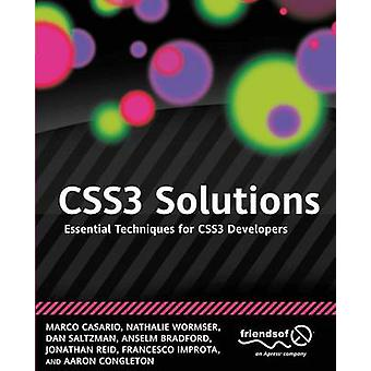 Css3 Solutions Essential Techniques for Css3 Developers by Casario & Marco