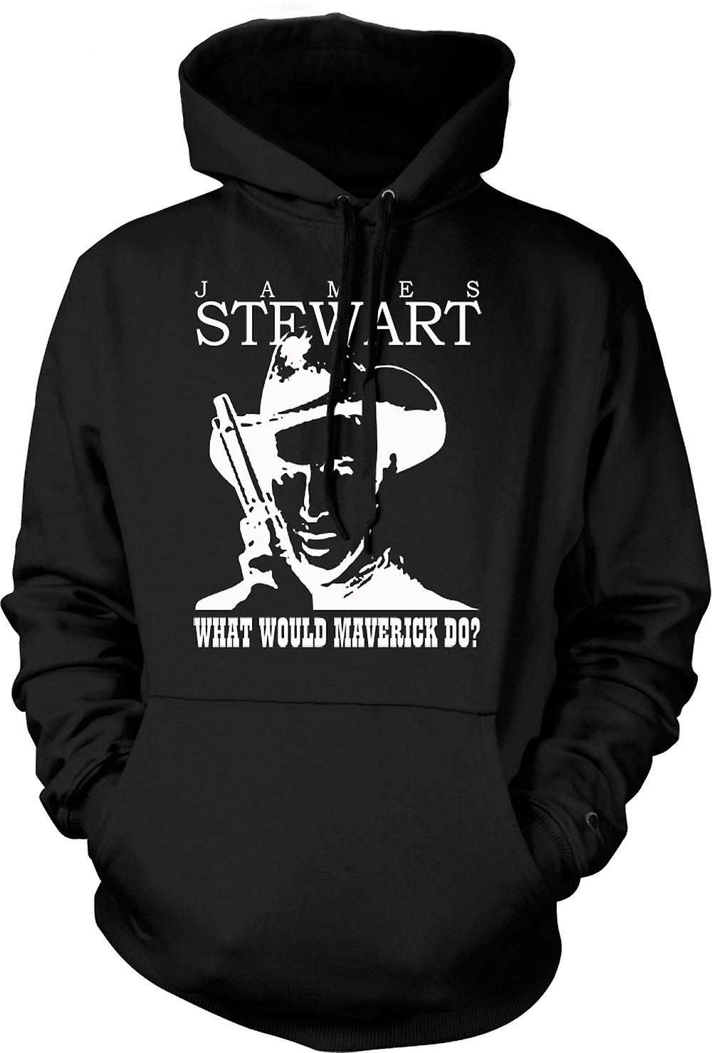Mens hettegenser - James Stewart - Maverick Cowboy