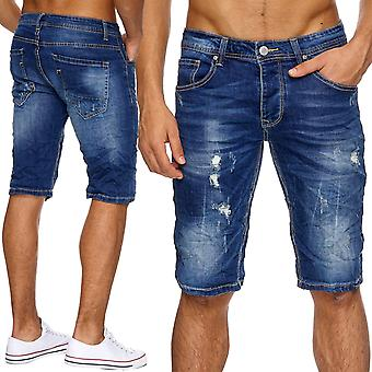 Men's Jeans Shorts short torn trousers Men's shorts Stonewashed ripped frayed
