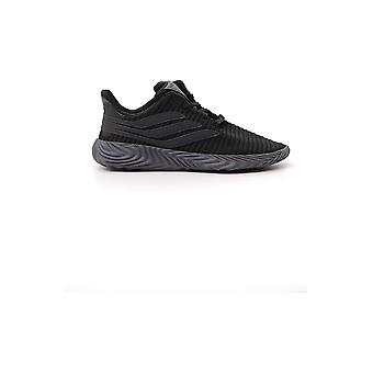 Adidas Black Leather Sneakers