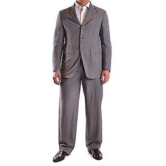 Armani Collezioni Grey Cotton Suit
