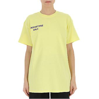 Semi-couture Alessia Yellow Cotton T-shirt