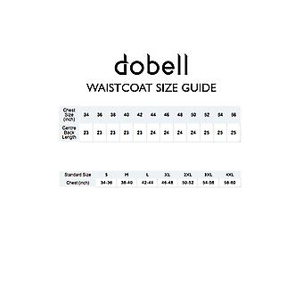 Dobell Mens Light Blue Seersucker Waistcoat Regular Fit