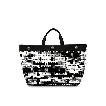 Balmain Black Leather Tote