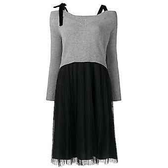 Red Valentino Grey/black Polyester