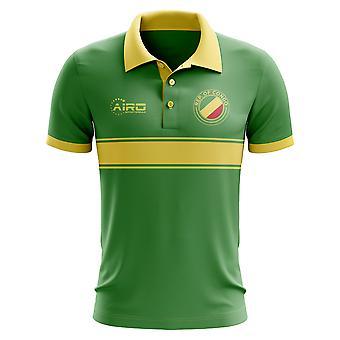 Congo koncept stribe poloshirt (grøn)
