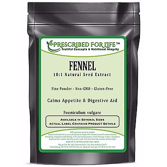 Fennel - 10:1 Natural Seed Extract Powder (Foeniculum vulgare)
