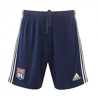 2019-2020 Olympique Lyon Adidas Away Shorts (Navy)