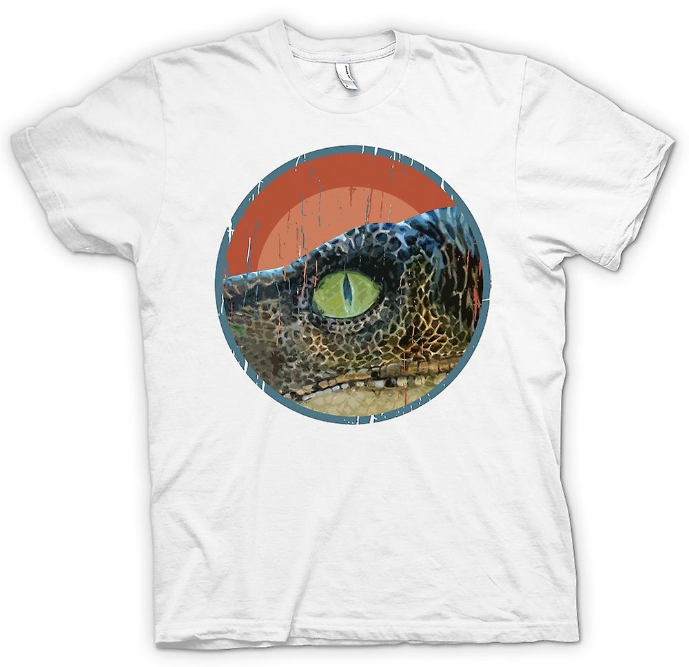 Mens T-shirt-Jurassic Park - Eye Raptor - Cool