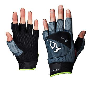 Kookaburra 2018 Team Xenon Field Hockey Fingerless Hand Glove Protection Grey