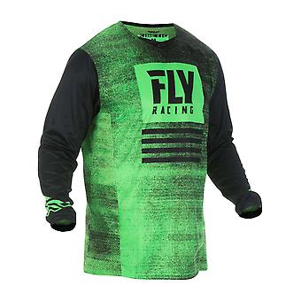 Fly Racing Green-Black 2019 Kinetic Noiz Kids MX Jersey