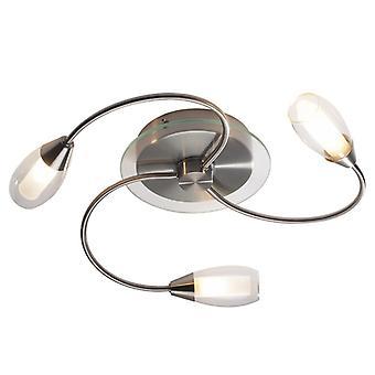 Tugel 3 Light Flush G9 (satin krom komplett med dubbla kuvert glas