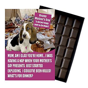 Bassett Hound ägare hundälskare mor? s dag present choklad present till mamma mumie