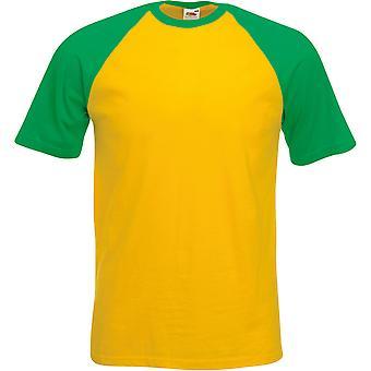 Fruit Of The Loom - Mens Short Sleeve Baseball Tee T-Shirt