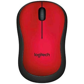 Logitech m220 trådløs mus optisk 1 000 dpi farge rød/svart