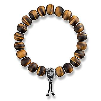Thomas Sabo Ethnic Brown Elastic Bracelet from Unisex Silver Sterling 925 A1703-826-2-L195
