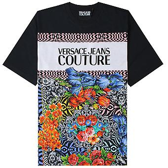 Versace Jeans Couture Floral Logo Print T-Shirt
