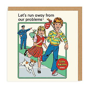 Ohh Deer Lets Run Away From Our Problems Greeting Card