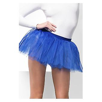 Womens blau Tutu Unterrock Fancy Dress Zubehör
