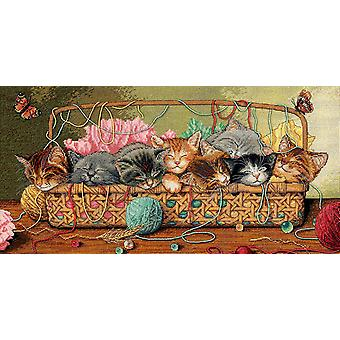 Gold Collection Kitty Litter geteld Cross Stitch Kit 18