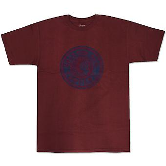 Brixton Rival T-Shirt Navy Bourgogne