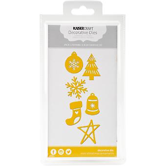 Kaisercraft sterben-Mini Christmas Ornaments DD391