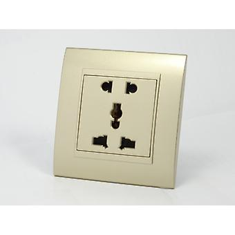 I LumoS AS Luxury Gold Plastic Arc  Unswitched 5 Pin Multi Plug Single Socket