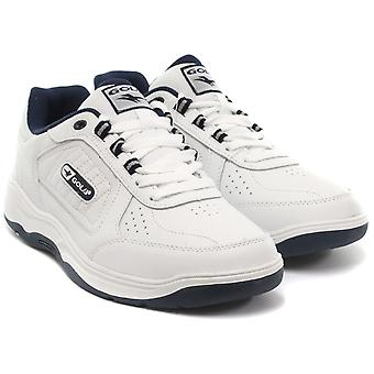 Gola Belmont WF White Mens Wide Fit Trainers