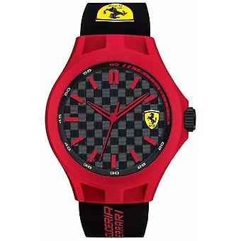 Scuderia Ferrari Mens Pit Crew Black Rubber Strap Red Case Black Dial 0830287 Watch